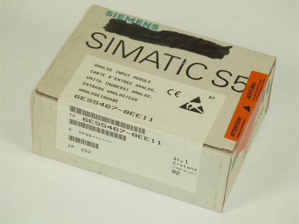 Siemens Simatic S5 Analog Input,6ES5467-8EE11,E:02