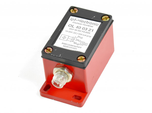 ipf-electronic Glasfaser-Verstärker,OL 40 03 21,OLV 40 DC P3-BSK,10-30V DC