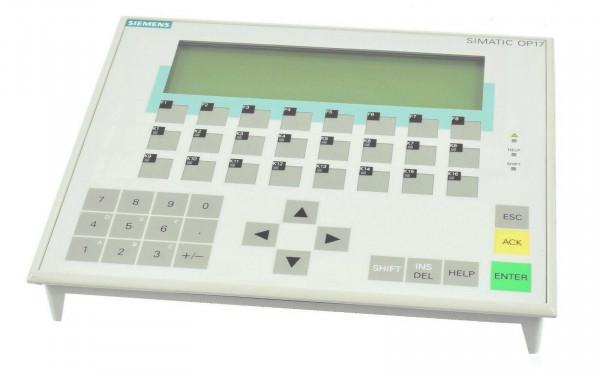Siemens Operator Panel OP17-PP,6AV3 617-1JC00-0AX2,6AV3617-1JC00-0AX2