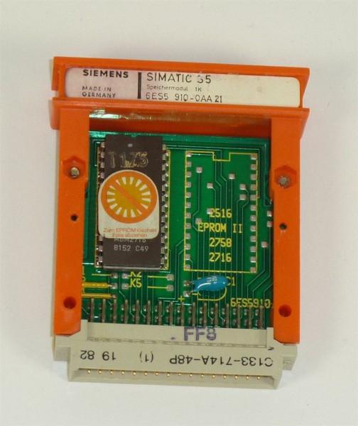 Siemens Simatic S5 Speicher/EPROM,6ES5910-0AA21,6ES5 910-0AA21