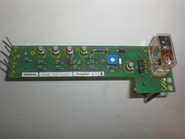 Siemens Sicomp Platine,6AB6 125-4AA02,6AB6125-4AA02