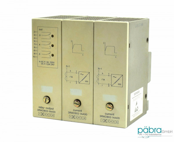 Siemens Sikostart Current/Relay OUT,2 x 3RW2802-1AA00,1 x 3RW2803-1AA00