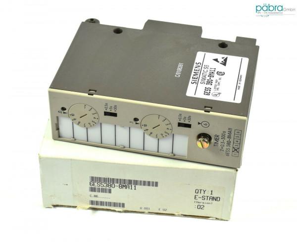 Siemens Simatic S5 Timer Module,6ES5 380-8MA11,6ES5380-8MA11,E:02