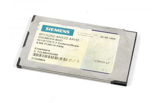 Siemens Sinumerik NCU572/572.2 Software,6FC5250-4AX20-4AH0,6FC5 250-4AX20-4AH0