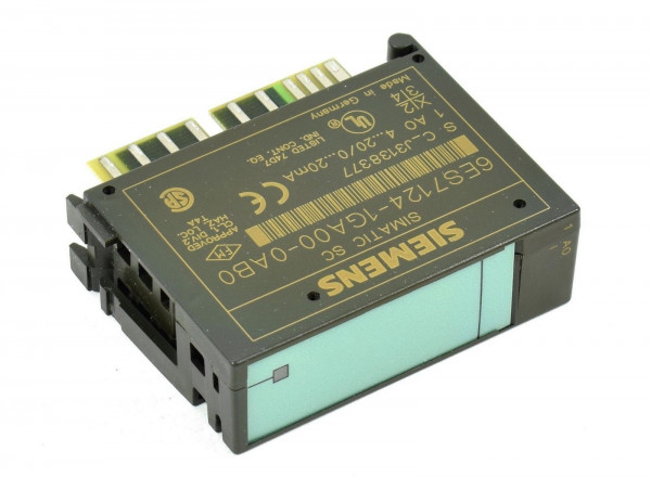 Siemens Simatic S7 ET200L-SC 1AO I,6ES7 124-1GA00-0AB0,6ES7124-1GA00-0AB0