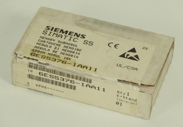 Siemens Simatic S5 Speicher/EPROM,6ES5376-1AA11,6ES5 376-1AA11,E:01