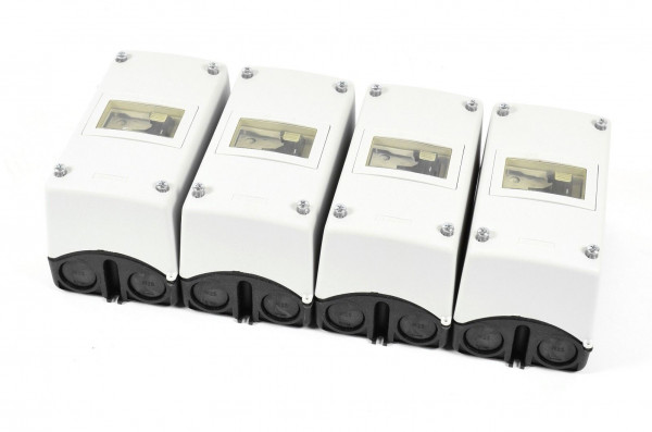 4 x Siemens Sirius Isolierstoffgehäuse,3RV1913-1CA00 inkl. 3RV1011-0GA10