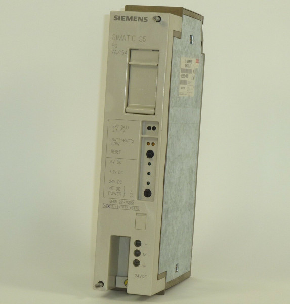 Siemens Simatic S5 PS951,6ES5 951-7ND51,6ES5951-7ND51,E:01/02