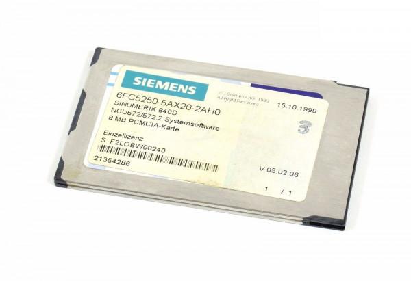 Siemens Sinumerik NCU572/572.2 Software,6FC5250-5AX20-2AH0,6FC5 250-5AX20-2AH0