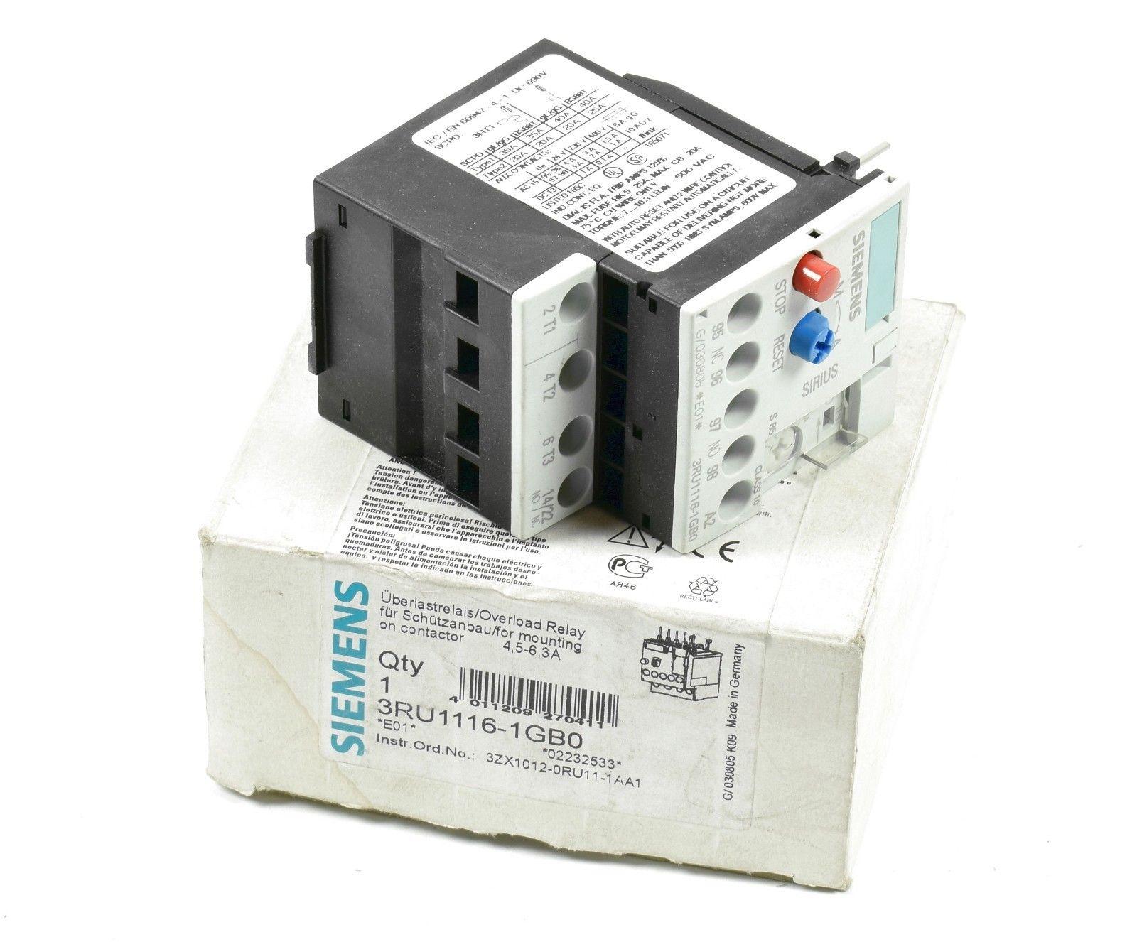 Siemens Sirius 3RU1116-1EB0 3RU1 116-1EB0  E:01 Überlastrelais unused//OVP