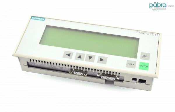 Siemens Operator Panel TD17-DP12,6AV3 017-1NE30-0AX0,6AV3017-1NE30-0AX0